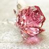 ガラスの薔薇 blossoming rose swarovski