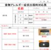 『 #改定 #食物アレルギー症状出現時対応票 #無料ダウンロードデータ 』