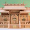 屋根の高さを低めにした屋根違い三社の神棚 出雲 三社 尾州桧