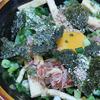 5月24日(月)昼食のにらしょう油の釜たまうどんと、夕食の焼鳥。