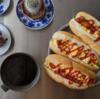 5/23(土)ホットドッグ(トリプル)、揚げ出し豆腐とアジフライ