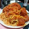 今日の晩飯 わんわん物語風ミートボールのスパゲッティとティラミスを作ってみた