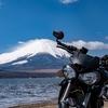 富士山とバイク! 撮影スポット(平野の浜)