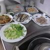 幸運な病のレシピ( 2082 )夜:牛肉とタケノコの炒め、豚ソテーとサラダ(アボガド)、イワシ、新タマネギのスープ、後に馬刺し