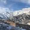 20年1月6日、白馬岩岳スキー場。雪が少なく、滑れるコースが少なすぎ・・・