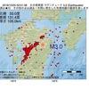 2016年10月25日 02時01分 大分県南部でM3.0の地震