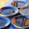 curry plate ~turquoise blue ~