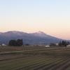 山と田んぼと夕焼けと。