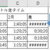 【Excel/関数】小技~負の時刻を計算・表示する方法