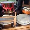 和太鼓を返して、また和太鼓を借りる。