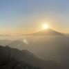 西丹沢~檜洞丸① 沈むダイヤモンド富士を見に行く 2021.2.6~2.7