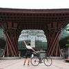 【自転車旅 / 東尋坊→白川郷(164km)】日本海の幸を満喫!金沢駅経由で猛暑の上裸ヒルクライム!~合掌造りに合掌~