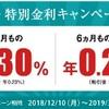 「円定期預金 特別金利キャンペーン」