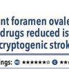 ACPJC:治療 原因不明の脳梗塞患者において、抗血小板薬治療にPFO閉鎖を追加すると脳梗塞再発が減る