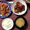 鶏づくしな夕ご飯。せせり炒めと即席からあげ。