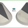 【OpenFOAM】refineMeshのfieldBasedで円錐ヘキサメッシュを任意に細分化する