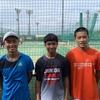 全国中学生テニス選手権前日練習