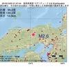 2016年10月23日 21時57分 鳥取県東部でM2.6の地震