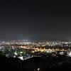 2月はじめの星空と、広島の夜景