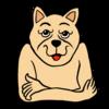 したたかな犬 のイラスト