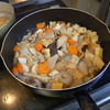 幸運な病のレシピ( 453)朝:お煮しめ、みそ汁、ホッケの開き