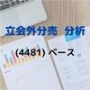 【立会外分売の分析】4481 ベース
