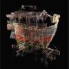 Highlighting Feature Regions Combined with See-Through Visualization of Laser-Scanned Cultural Heritage