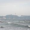15日、波が無かったので夕方の海で海水浴+ちょっぴりサーフ@鵠沼