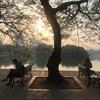 ホアンキエム湖の朝