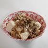今日はいつもの麻婆豆腐じゃないよ。塩麻婆豆腐