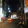 午前4時40分の松山市繁華街の風景