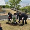高知市で天皇在位30周年記念植樹