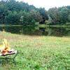 千代田湖で焚き火