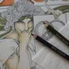 1】ヴァンゴッホ色鉛筆でミュシャ塗り絵☆ミュシャぬりえファンタジーより