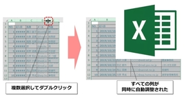【Excel】行・列の幅を自由自在に調整する方法 ワンランク上のテクニックも