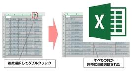 【Excel】行・列の幅を自由自在に調整する方法 ワンランク上のテクニックも