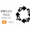 定番化したActionは「習慣基本ルール」に格上げする[習慣化日次PDCA 2018/11/04]