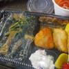「役所前弁当」の「茄子味噌弁当」(ミニそば付) 250円