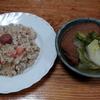 トマトとシーチキンのチャーハンと白菜と大根の煮物