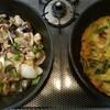 パパ料理 チヂミ&豚肉とナスの炒め物