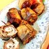 秋刀魚の梅しそロールにんにく揚げ