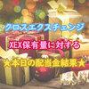 【クロスエクスチェンジ】XEX保有量に対する本日の配当金結果(7/12~7/16)