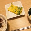 【男の飯】 「ニラ卵と豆腐とワカメの煮物」