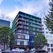 五橋付近の新築ビル、「CubeAzure」は小規模だけどデザイン性が高く目を引くビルになりそう