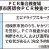 「ドライブスルー方式」を採用し、PCR集合検査場を開設!