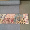 片貝木綿とタッサーシルクの半巾帯 パッチワーク編