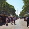 スペイン旅「美しい並木道ランブラス通りを爽やかに歩く!夏のバルセロナ街歩き その2」