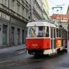 プラハの可愛い路面電車