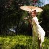 週末上海閔行体育館付近で桜と海棠ポートレート・チャイナドレス編