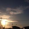 昨日の夕方の空